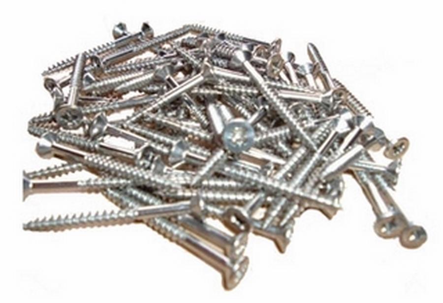 Schraubenset á 100 Stück 4x30 mm Teilgewinde