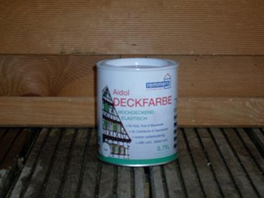 Deckfarbe weiß RAL 9010/9016 á 0,75 Liter