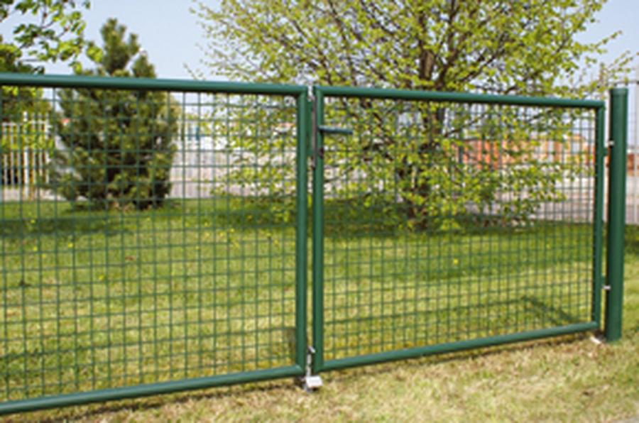 Doppeltor für Maschendrahtzaun 400x150 cm (BxH) grün