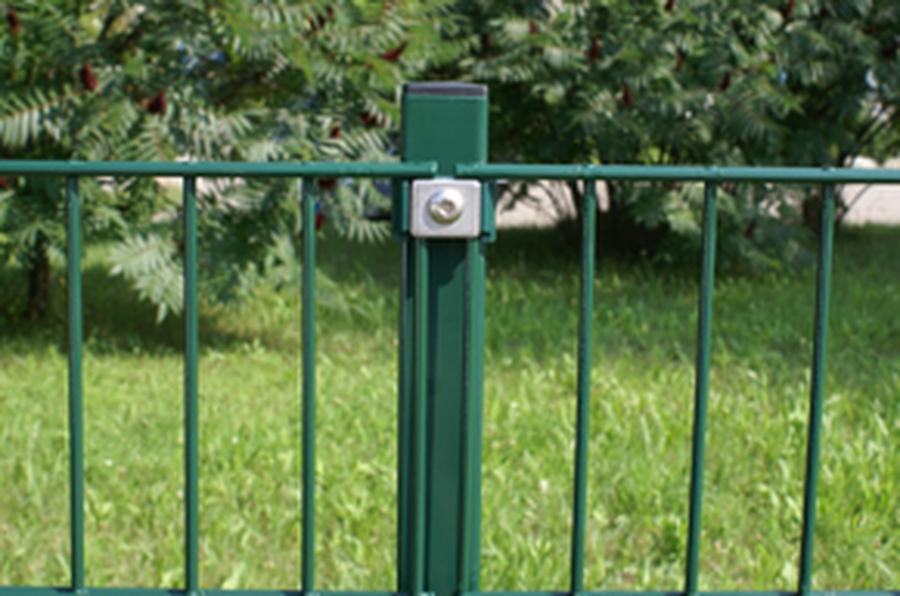 Pfosten für Doppelstabmatten 4 x 6 x 260 cm grün