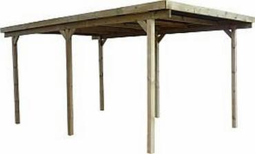 Einzel - Carport 300x500 Höhe 210 KDI - Nur Holzteile incl. Zubehör ohne Bedachung KDI