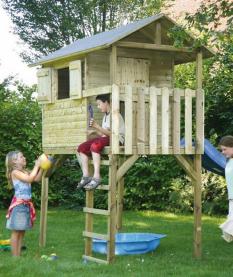 Kinderspielhaus Moritz KDI 282x126x302 cm mit Schaukel