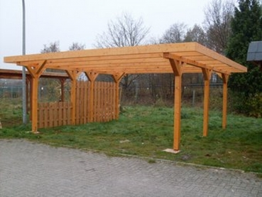 Carport Varel 425 x 500 mit Metalldach