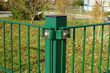 Metall - Eckpfosten für Doppelstabmatten 6 x 6 x 110 cm feuerverzinkt