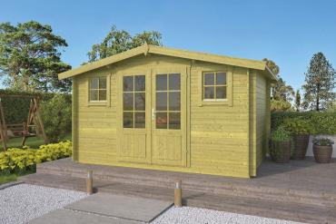 Gartenhaus 28mm grün Juha 400x300 cm