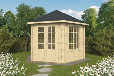 Gartenhaus 34mm  Nora 354x316 cm