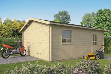 Garage/ Gartenhaus Rydell 58 mm 470 x 570 cm Fichte unbehandelt