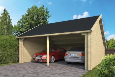 Garage Nysse 70 mm 600 x 600 cm Fichte unbehandelt
