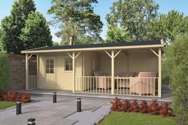 Gartenhaus 40mm  Ragna 320+400x320+100 cm