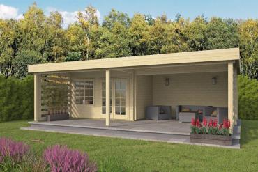 Gartenhaus 40mm  Lilou 398+422x275+215 cm