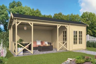 Gartenhaus 40mm  Kukka 250+450x350 cm
