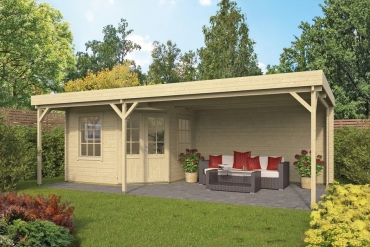 Gartenhaus 40mm  Annette 300+400x300+100 cm