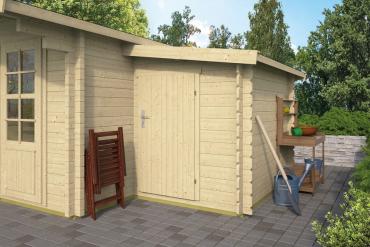 Gartenhaus-Anbau/Vorbau 44 mm 160 x 300 cm, Fichte unbehandelt