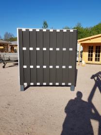 WPC Zaun Amerika mit Alu Querriegeln 180x180 Anthrazit/Grau