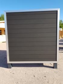 WPC Zaun Kanada mit Alu Rahmen blank Anthrazit/Grau 180x180