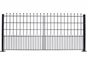 Schmuckmattenzaun gerade mit Kugel 241,8x108 grün RAL 6005